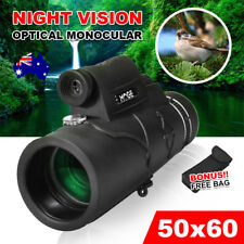 Telescope Day & Night Vision 50x60 Optical Monocular Hunting Camping Hiking