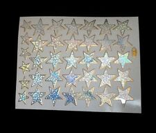 105 shiny sparkle silver star stickers children reward craft school teacher