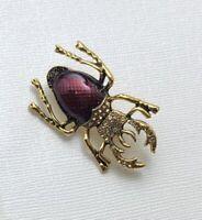 Vintage Large Beetle  Bug  brooch pin