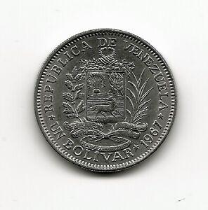 World Coins - Venezuela 1 Bolivar 1967 Coin Y# 42 ; Lot-V2