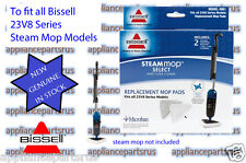 Bissell Steam Mop Floor Pads Suit 23V8 Series Pk2 Part 3961- NEW - IN STOCK