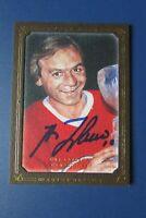 GUY LAFLEUR  2008 UDC  MASTERPIECES BROWN # 53  AUTO SIGNED  Montreal Canadiens