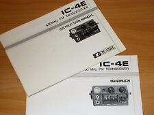 ICOM manuale/INSTRUCTION MANUAL IC 4 e con vista della scheda