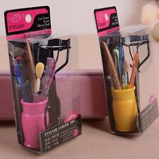 1 Set 7 pcs Professional Cosmetic Makeup Tool Brush Eyelash Curler Comb