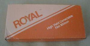 Royal High Yield Correctable Film Ribbon Tape Package No. 233 771011 Black