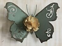 Blue Distressed Butterfly Metal Wall Decor. Charming & Perfect home accent