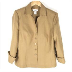 Miss Dorby Vintage Dressy Suit Jacket Women Size 14 Tan Career Wear