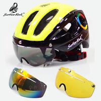 Cycling Helmet MTB Road Bike Sport Helmet Sun Visor EPS Bicycle Helmet With Lens