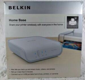 Belkin N Wireless Network Kit Home Base Device Server Ethernet USB. Open box new