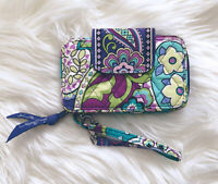 Vera Bradley Smartphone Wristlet Heather Retired Purple Floral Paisley Quilted