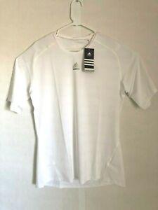 NEW W/Tags  Adidas - White Clima-lite Compression  Short Sleeve Shirt XXL