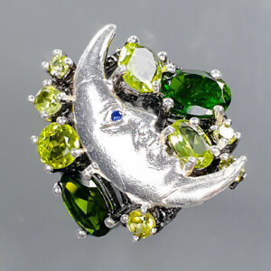Fine Art jewelry Chrome Diopside Ring Silver 925 Sterling  Size 7 /R178792