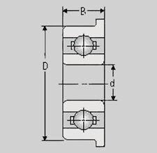 Miniatur Kugellager FR2 5ZZ, 3,17x7,93x3,57, FR 2 5ZZ