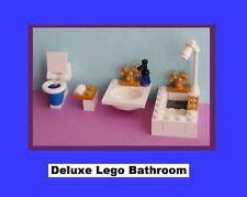 Deluxe Bathroom Sink Toilet Bathtub WC Bath Water Closet - MADE OF LEGO BRICKS