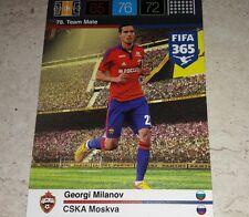 CARD ADRENALYN FIFA 365 CALCIATORI PANINI CSKA MILANOV CALCIO