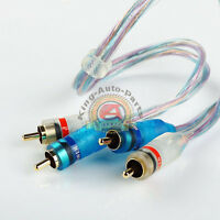 1.5ft Gold Plated 1.5' RCA Blue Wire No Noise Video 2 Male To Male Stereo Cable