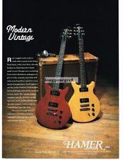 1993 Hamer Electric Guitars Vtg Print Ad