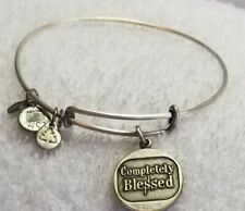"Alex And Ani "" Completely Blessed "" Silver  Bangle Bracelet"