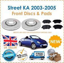 For Ford Street KA 2003-2005 Two Front Vented 258MM Brake Discs & Brake Pads Set