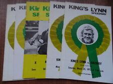 KINGS LYNN SPEEDWAY PROGRAMMES (x6) (1972) HACKNEY SWINDON COVENTRY VARGARNA