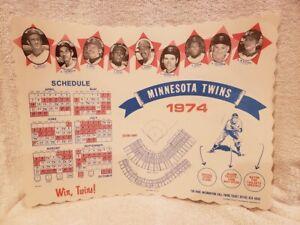 RARE Minnesota Twins 1974 Placemat Schedule, Hrmon Killebrew, Rod Carew, Oliva!!