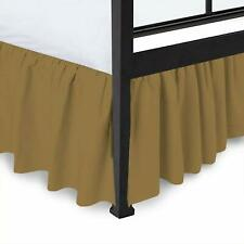 Bed Skirt Ruffle Split Corner 100% Egyptian Cotton 400 Tc Taupe Queen/King Size