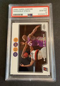 2008 Topps Chrome #32 Shaquille O'Neal Lakers HOF PSA 10 GEM MINT