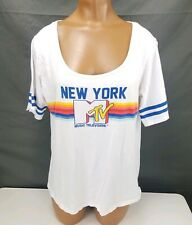 M TV New York Music Television Graphic Tee Womens Size XL Short Sleeve T Shirt