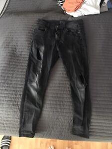 ZARA MAN Jeans Denim Black Schwarz Slimfit W32 L32 EUR42 TOP