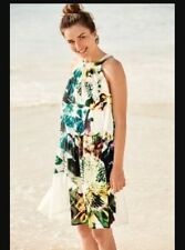 NEXT SIZE 12 FLORAL PRINT 2 IN 1 SWING DRESS BNWT