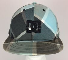 DC New-Era 59 Fifty Fitted Hat Cap Size 7 1/4 Plaid Black Gray Blue White