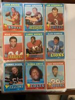 1971 topps football card lot