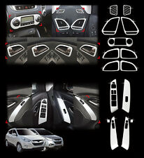 Chrome Interior Molding Kit Garnish Trim 15p For 2010-2014 Hyundai Tucson : ix35