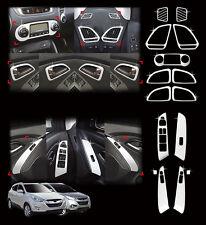 Chrome Interior Molding Kit Garnish Trim 15p For 2010-2014 Hyundai Tucson : ix35