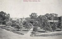 Vintage Real Photo Post Card RPPC Gridley Park Aerial Gridley Park, CA 1940s