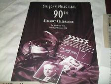 More details for sir john mills - 90th birthday celebration fully autographed programme +