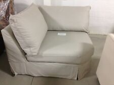 Pottery Barn Comfort Couch Sofa Sectional Piece WEDGE Sand Twill SLIPCOVER knife