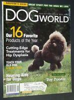 Dog World Illustrated Magazine Toy Poodle Cover +Articles Jan. 2002