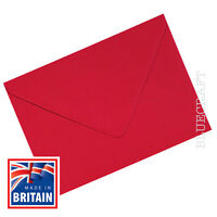 100 x A6 C6 Scarlet Red 100gsm Premium Quality Envelopes 114 x 162mm