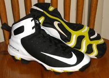 New listing NIKE Youth Alpha Huarache Mid 3/4 Molded Baseball Cleats 923430-011 Size 4.5Y