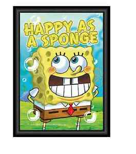 HAPPY AS A SPONGE 3D POSTER  GREAT CHRISTMAS GIFT