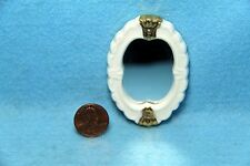 Dollhouse Miniature Porcelain Oval Wall Mirror with Gold  CL01215
