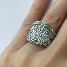 2.65 Ct Round Brilliant Cut Diamond Cluster Right Hand Ring in 14k Gold F-G Si1
