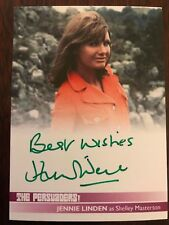 THE PERSUADERS!: AUTOGRAPH CARD: JENNIE LINDEN AS SHELLEY JL2 - GREEN INK