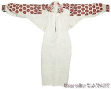ANTIQUE Ukrainian Folk Costume Dress embroidered linen chemise blouse peasant