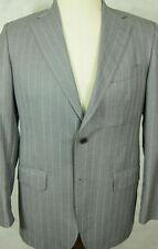 GORGEOUS Bruno Piattelli for Barneys Loro Piana Super 120s Gray Wool Suit 38R