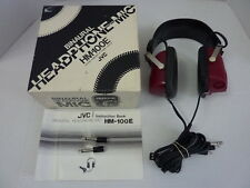 Vintage 70s JVC HM-100E Red Binaural Headphone in Box (Tested & Works)