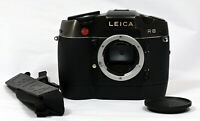 Nr Mint Leica R8 Black 35mm Film Flagship SLR Camera + Motor-Winder R8 & Straps