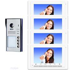 Video Sprechanlage Klingelanlage Türklingel 4familienhaus 2Draht Bus DT607S4 17W