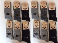 12 Pairs Mens Thick Chunky Wool Work Hiking Boot Socks Size UK  6-11 HGFVDC